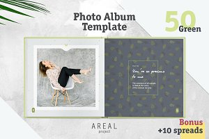 Photo Album Template - Green
