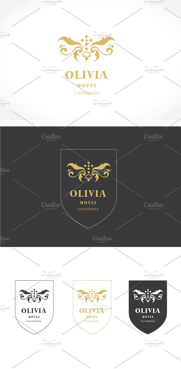 Hotel Logo in Logo Templates - product preview 2