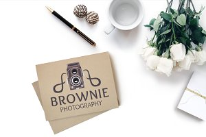Vintage Brownie Camera – Studio Logo