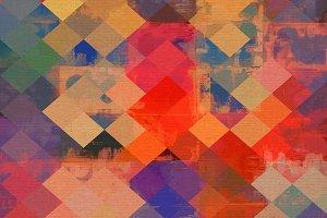 Textured Squares Mosaic