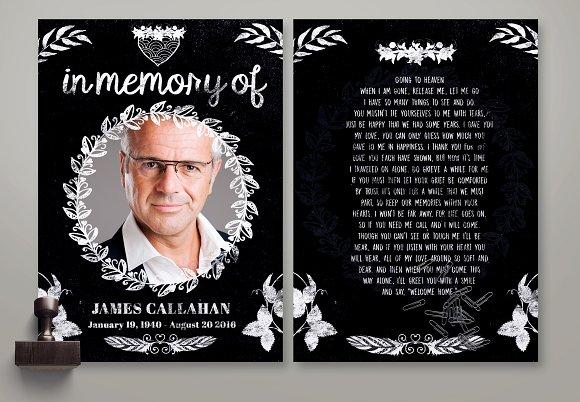 ChalkStyles Memorian Card Template