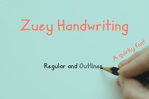 Zuey Handwriting Typeface