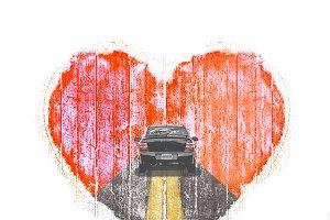 Graphic Collage Love Concept