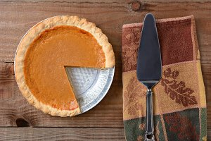 Cut Pumpkin Pie