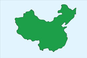 Hand Drawing China Map (Vector)