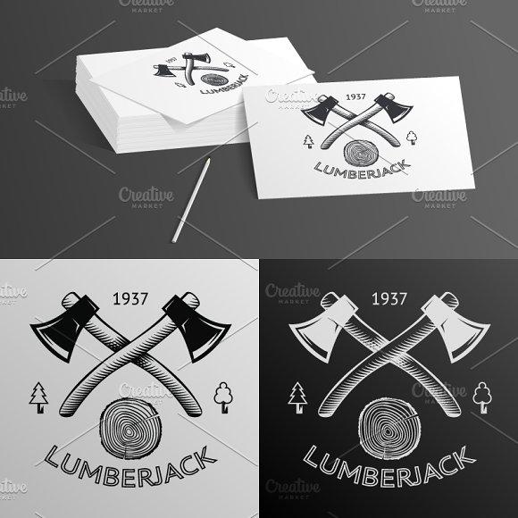 Lumberjack Logo Symbol