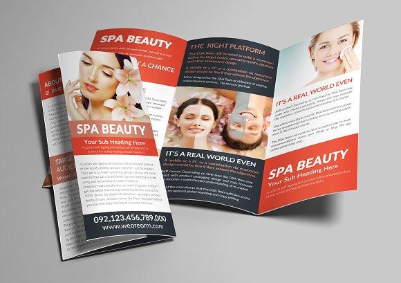 Spa Trifold A4 Brochure