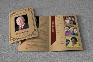 Funeral Program Template-V709