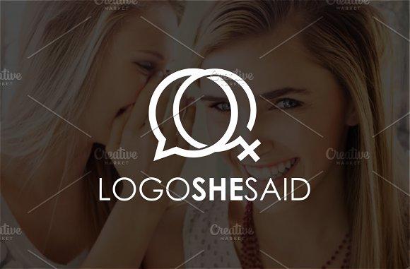 She Said Logo Template
