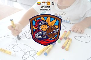Art Knight Logo Mascot