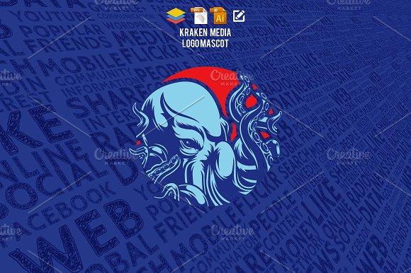 Kraken Media Logo Mascot
