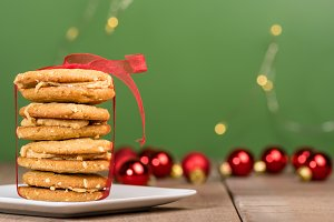 Stack of Christmas cookies