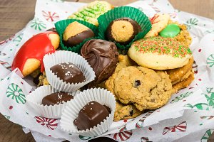 Cookies and candy for holidays