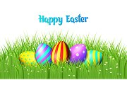 Easter eggs on white background.