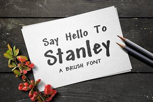 Stanley Brush Font
