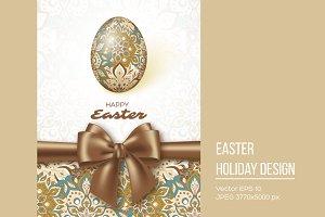 Happy Easter design.