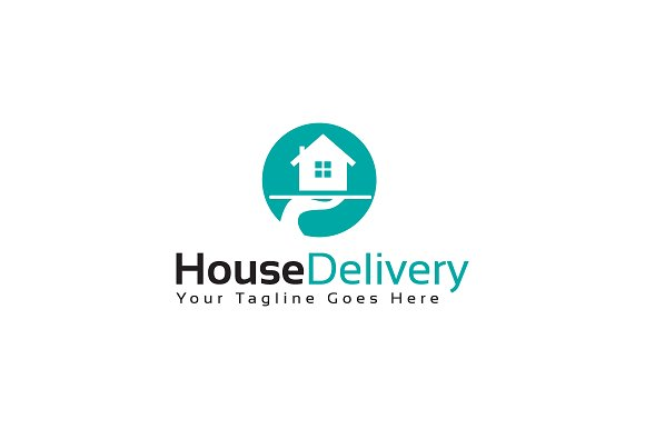 House Delivery Logo Template