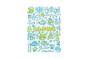 Camping Doodles.