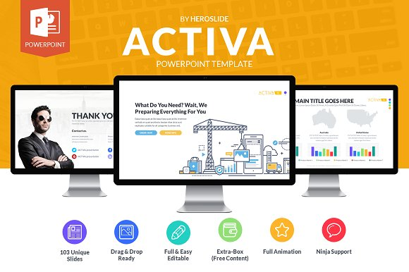 Activa business powerpoint template presentation templates activa business powerpoint template friedricerecipe Image collections