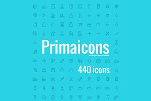 Primaicons - Outline icons font