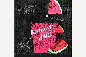 Watermelon Juice Blackboard