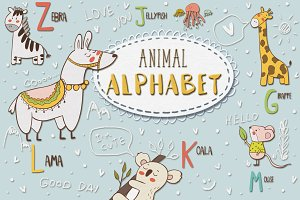 Cute animal alphabet