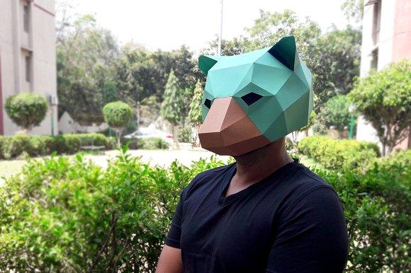 DIY Bear Mask 3D Papercrafts