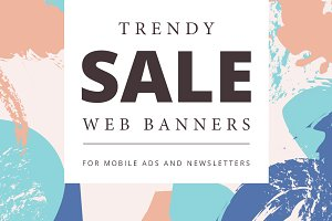Creative mobile sale banner
