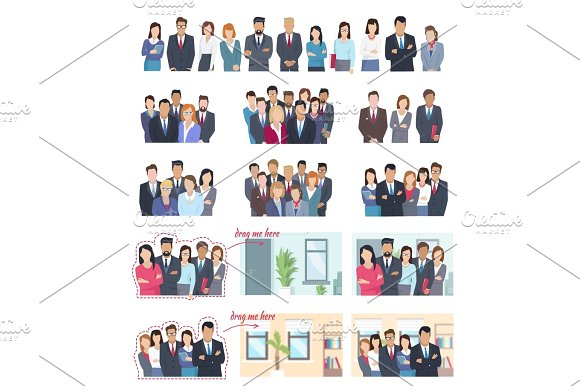 Office Employees Big Illustrations Collection