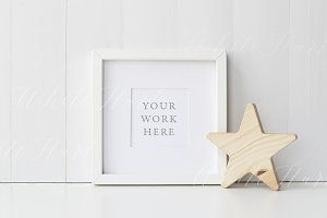 Nursery style white frame mock up