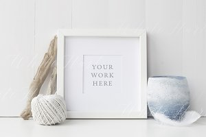 White square nautical frame mock up
