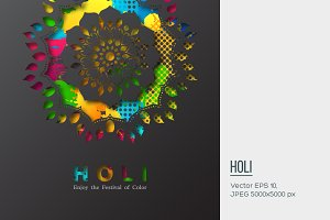 Holi holiday design.
