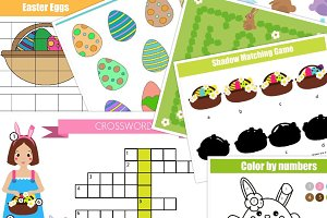 Easter kids activity Education game