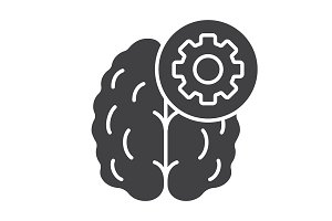 Practical mind icon. Vector
