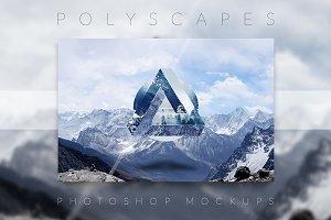 Polyscape Photoshop Mockups