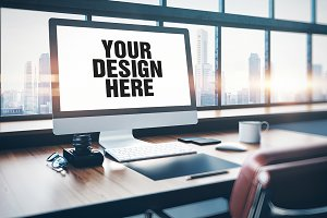 Workplace screen mockup 01
