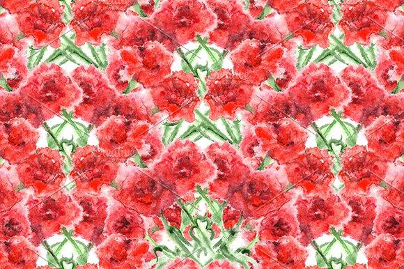 Carnation Floral Seamless Pattern
