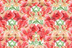 Carnation floral seamless pattern