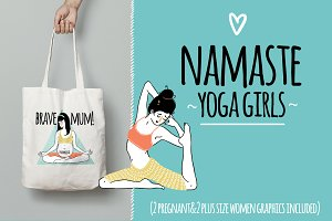 NAMASTE! Yoga Girls Graphics