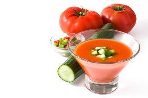Spanish cold gazpacho soup