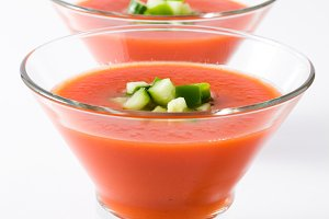 Spanish cold gazpacho soup