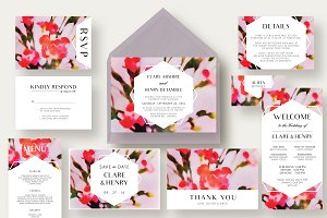 Carnation Flower Wedding Suite