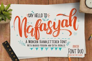 Nafasyah - Brushed Font Duo