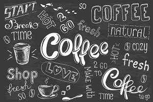 Big Set Coffee lettering