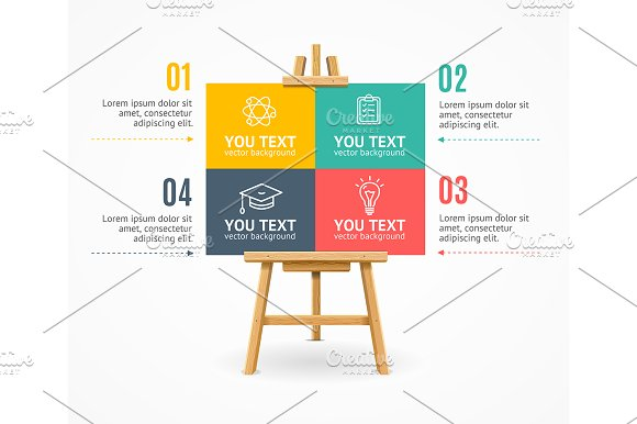 Wooden Easel Menu Infographic