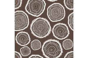 Tree Rings Trunk Pattern