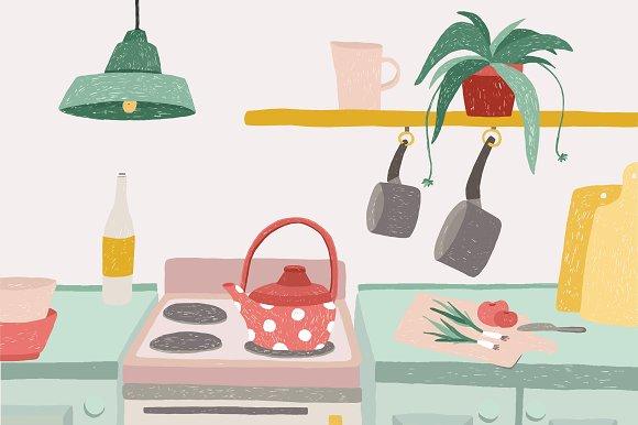Kitchen Doodle Illustration