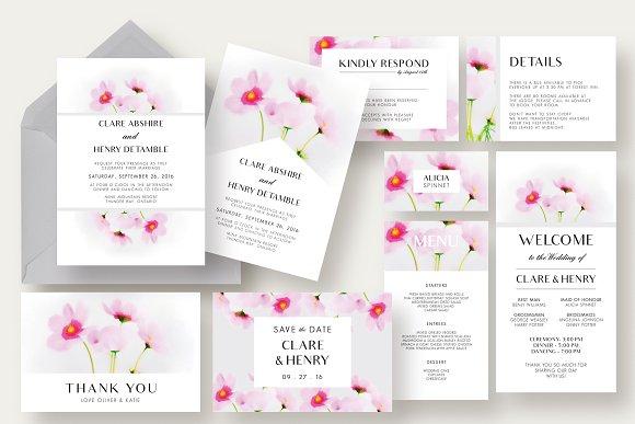 Cosmos Flower Wedding Suite