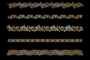 decorative floral border elements