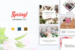 Spring - Instagram Pack